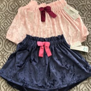 skirt for girl new size 6 light pink and blue
